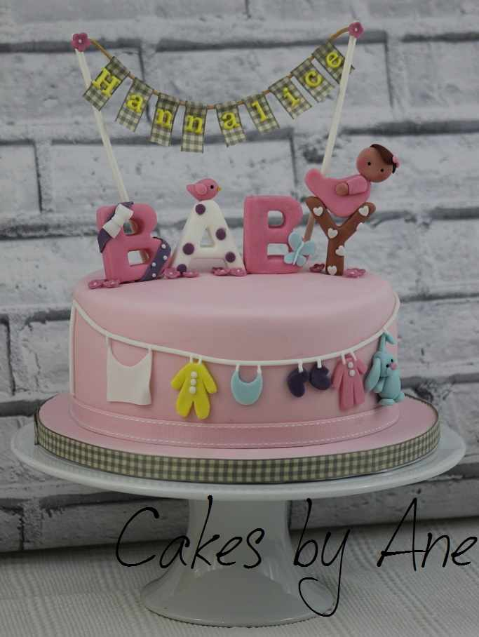 Baby Shower Clothes Line Cake