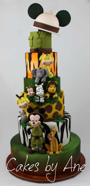 Mickey Mouse Safari Cake
