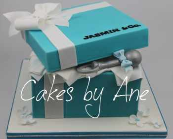 Tiffany & Co Baby Shower Cake